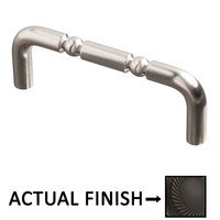 """Colonial Bronze - Antimicrobial Agion Pulls - 3"""" Centers Pull in Satin Brass"""