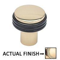 "Colonial Bronze - Split Finish - 7/8"" Diameter Knob In Polished Brass And Satin Black"