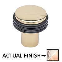 "Colonial Bronze - Split Finish - 1 1/4"" Diameter Knob In Satin Nickel And Satin Bronze"
