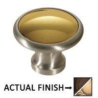 """Colonial Bronze - Split Finish - 1 1/4"""" Diameter Knob In Oil Rubbed Bronze And Oil Rubbed Bronze"""