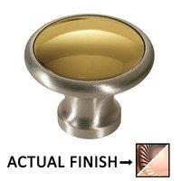 "Colonial Bronze - Split Finish - 1 1/4"" Diameter Knob In Antique Copper And Antique Copper"