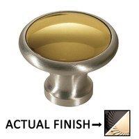 "Colonial Bronze - Split Finish - 1 1/4"" Diameter Knob In Satin Black And Oil Rubbed Bronze"