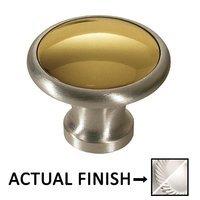 "Colonial Bronze - Split Finish - 1 1/4"" Diameter Knob In Satin Chrome And Oil Rubbed Bronze"