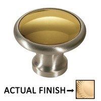 """Colonial Bronze - Split Finish - 1 1/4"""" Diameter Knob In Satin Brass And Satin Nickel"""