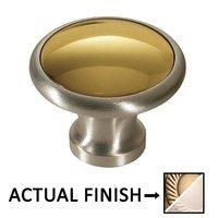 "Colonial Bronze - Split Finish - 1 1/4"" Diameter Knob In Antique Brass And Antique Copper"