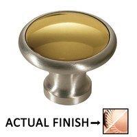 "Colonial Bronze - Split Finish - 1 1/4"" Diameter Knob In Polished Copper And Antique Copper"