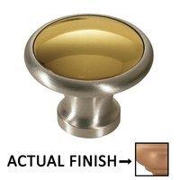 """Colonial Bronze - Split Finish - 1 1/4"""" Diameter Knob In Matte Satin Copper And Matte Satin Copper"""