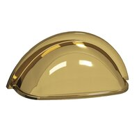 "Colonial Bronze - Pulls - 3"" Centers Round Cup Pull in Satin Bronze"