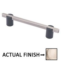 "Colonial Bronze - Appliance Pulls - 8"" Split Finish Surface Mount Pull in Satin Nickel and Satin Nickel"