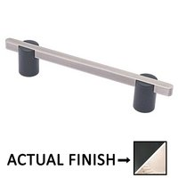 "Colonial Bronze - Appliance Pulls - 8"" Split Finish Surface Mount Pull in Matte Satin Black and Satin Nickel"