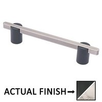"""Colonial Bronze - Appliance Pulls - 8"""" Split Finish Surface Mount Pull in Matte Satin Black and Satin Nickel"""