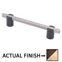 """Colonial Bronze - Appliance Pulls - 6"""" Split Finish Thru Bolt Pull in Matte Oil Rubbed Bronze and Polished Nickel"""