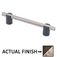 "Colonial Bronze - Appliance Pulls - 6"" Split Finish Thru Bolt Pull in Matte Oil Rubbed Bronze and Polished Nickel"