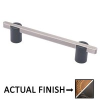 "Colonial Bronze - Appliance Pulls - 8"" Split Finish Thru Bolt Pull in Light Statuary Bronze and Satin Black"
