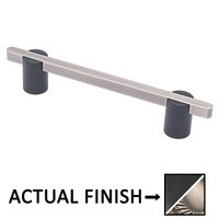 """Colonial Bronze - Appliance Pulls - 8"""" Split Finish Thru Bolt Pull in Matte Satin Black and Pewter"""
