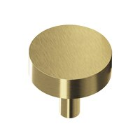 "Colonial Bronze - Antimicrobial Agion Knobs - 1"" Diameter Round Knob in Satin Brass"