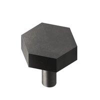 "Colonial Bronze - Knobs - 1 1/4"" Diameter Hexagon Knob/Straight Shank In Oil Rubbed Bronze"