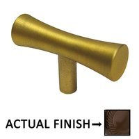 "Colonial Bronze - Convex and Concave - 2"" Long Knob In Satin Bronze"