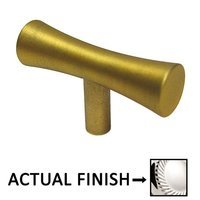 """Colonial Bronze - Convex and Concave - 2"""" Long Knob In Satin Bronze"""