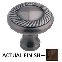 """Colonial Bronze - Antimicrobial Agion Knobs - 1 1/4"""" Rope Knob in Satin Brass"""