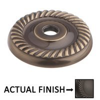 """Colonial Bronze - Antimicrobial Agion Knobs - 1 5/8"""" Rope Backplate in Satin Brass"""