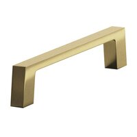 "Colonial Bronze - Antimicrobial Agion Pulls - 4"" Centers Pull in Satin Brass"