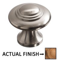 """Colonial Bronze - Antimicrobial Agion Knobs - 1 3/16"""" Diameter Small Button Knob in Satin Brass"""