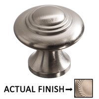 "Colonial Bronze - Antimicrobial Agion Knobs - 1 3/16"" Diameter Small Button Knob in Satin Brass"