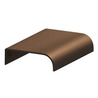 "Colonial Bronze - Antimicrobial Agion Pulls - 2 1/2"" Long Edge Pull in Satin Brass"