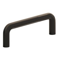 """Colonial Bronze - Antimicrobial Agion Pulls - 4"""" Centers Wire Pull in Satin Brass"""
