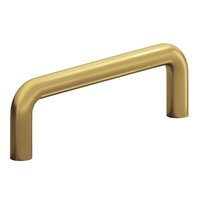 "Colonial Bronze - Antimicrobial Agion Pulls - 4"" Centers Wire Pull in Satin Brass"