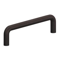 """Colonial Bronze - Antimicrobial Agion Pulls - 3 3/4"""" Centers Wire Pull in Satin Brass"""