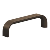 """Colonial Bronze - Antimicrobial Agion Pulls - 4"""" Centers Pull in Satin Brass"""