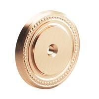 "Colonial Bronze - Knobs - 1 1/2"" Diameter Beaded Brass Rose In Satin Bronze"
