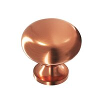 "Colonial Bronze - Quickship - Quick Ship Antique Copper Knob Solid Brass 1 1/4"" ( 32mm )"