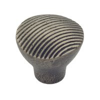 "Classic Brass - Montana - 1 1/2"" Diameter Large Wave Knob in Aged Iron"