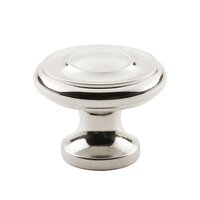 "Classic Brass - Hutter Classic - 1 1/4"" Diameter Knob in Antique Polished Silver"