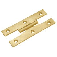 "Classic Brass - Hinge  - 3 1/2"" Long Cabinet Hinge in Antique Polished Silver"