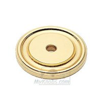 "Classic Brass - Hutter Classic - 1 1/4"" Round Backplate in Antique Polished Silver"