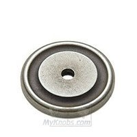 """Classic Brass - Hutter Classic - 1 1/4"""" Round Backplate in Antique Polished Silver"""