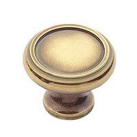 "Classic Brass - Hutter Classic - 1 1/4"" Diameter Knob in Antique Polished Silver"