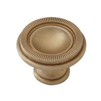 "Classic Brass - Hutter Classic - 1 3/8"" Diameter Knob in Antique Polished Silver"