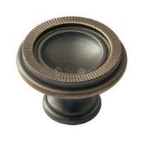 "Classic Brass - Hutter Classic - 1 3/8"" Diameter Knob in Antique Polished Silver"