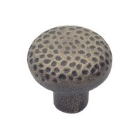 "Classic Brass - Arts & Crafts - 1 3/8"" Diameter Knob in Aged Iron"