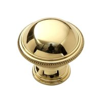 "Classic Brass - Hutter Classic - 1 1/4"" Diameter Cross Hatch Edge Knob in Antique Polished Silver"