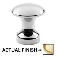 "Classic Brass - Hutter Classic - 1 1/8"" Diameter Knob in Antique Polished Silver"