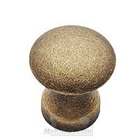 "Classic Brass - Hutter Classic - 1 1/8"" Diameter Knob in Antique Polished Silver"