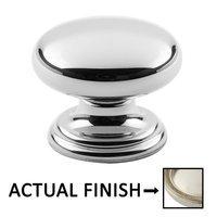 "Classic Brass - Hutter Classic - 1"" Diameter Knob in Antique Polished Silver"