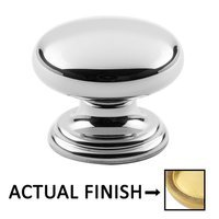 "Classic Brass - Hutter Classic - 1"" Diameter Knob in Antique Polished Silver"