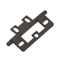 Classic Brass - Hinge  - Non-Mortise Hinge in Antique Polished Silver